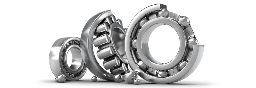Combined ball bearings and angle profiles.